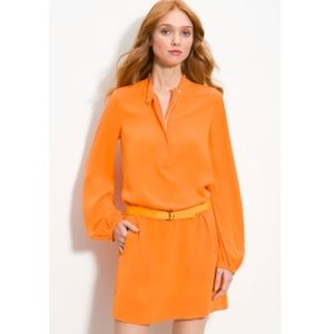 Diane von Furstenberg dress in 'neon tangerine'